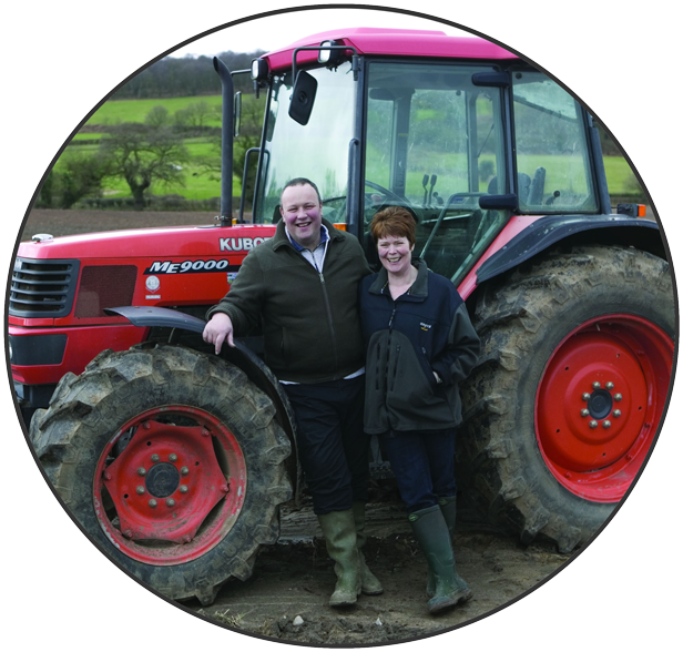 Paul & Wendy Jackson, current owners of Cheshire Farm Chips, family business at Teuthill Farm