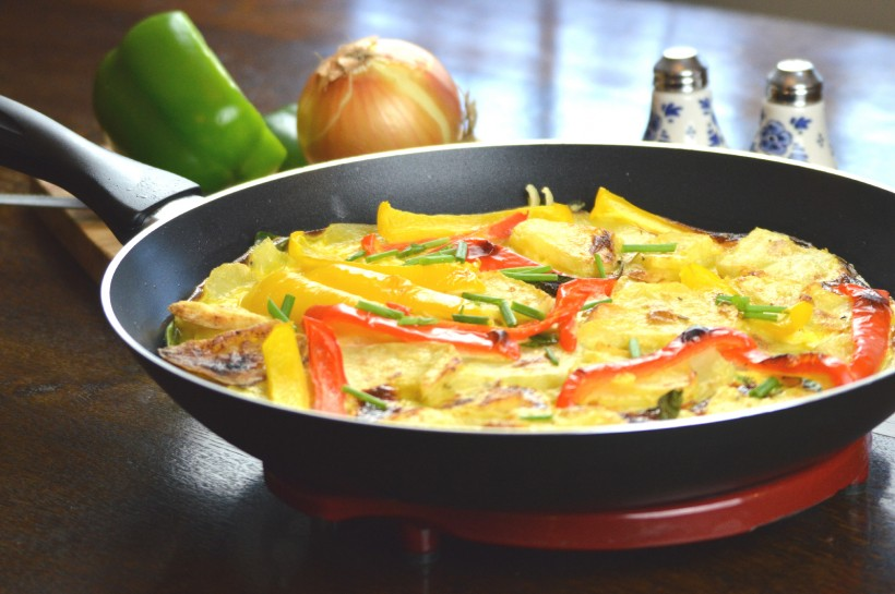 Potato Frittata with Cheshire Farm Sliced Potatoes & Mixed Peppers