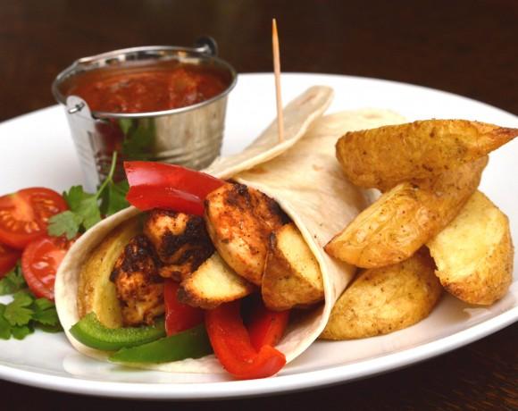 Chicken Fajita with Cheshire Farm Potato Wedges