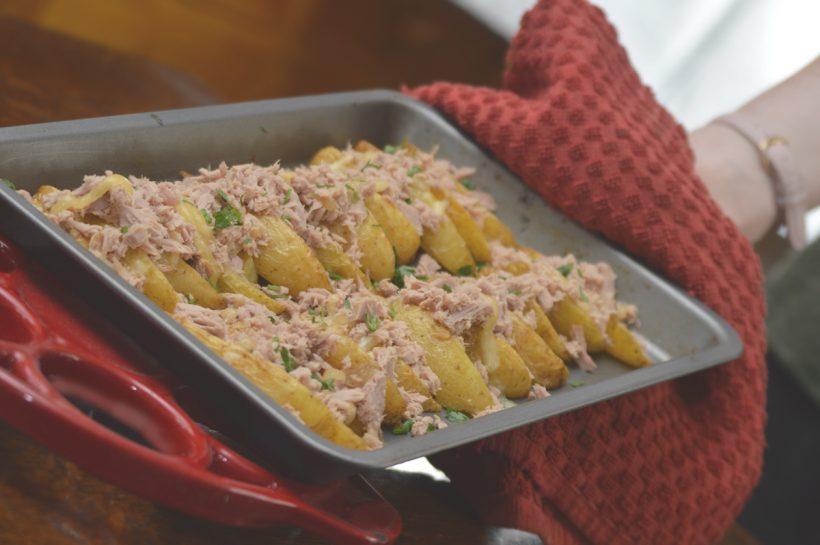 Tuna & Cheese Melt Cheshire Farm Potato Wedges