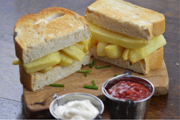 Chip butty with Cheshire Farm chips meal ideas