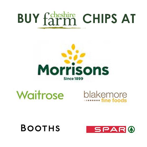 Buy Cheshire Farm chips at Morrisons, Waitrose, Blakemore, Booths, Spar
