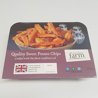 Quality sweet potato chips, Cheshire Farm Chips